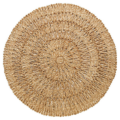Loop Place Mat, Natural