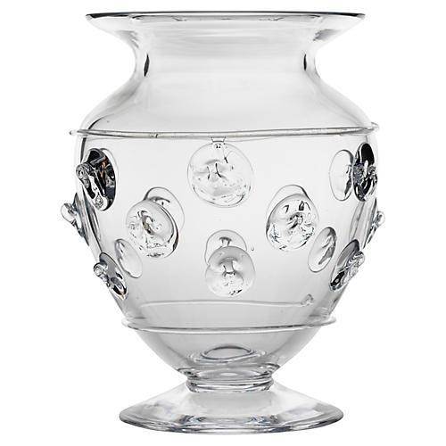 """10"""" Florence Urn Vase, Clear"""
