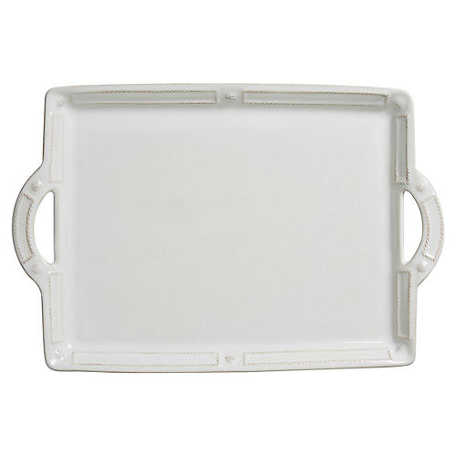 Berry & Thread French Serving Tray, White