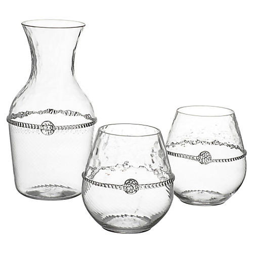 3-Pc Graham Carafe Set, Clear