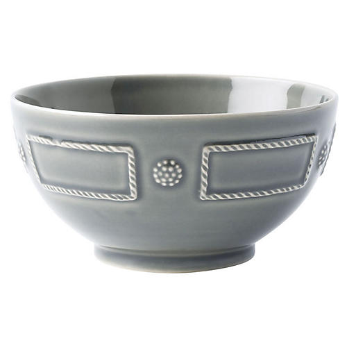 Berry & Thread Cereal Bowl, Gray