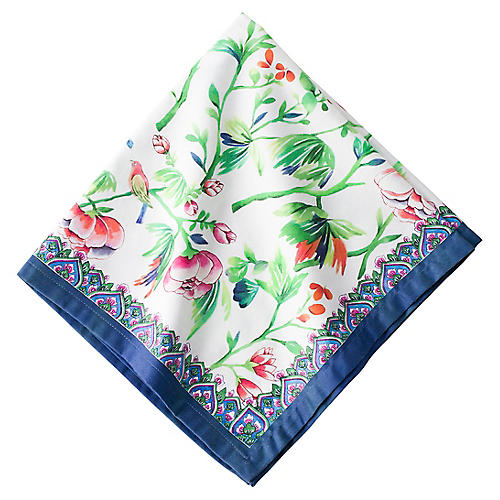 Lalana Floral Dinner Napkin, Blue/Multi