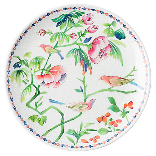 Melamine Lalana Floral Salad Plate, White/Multi