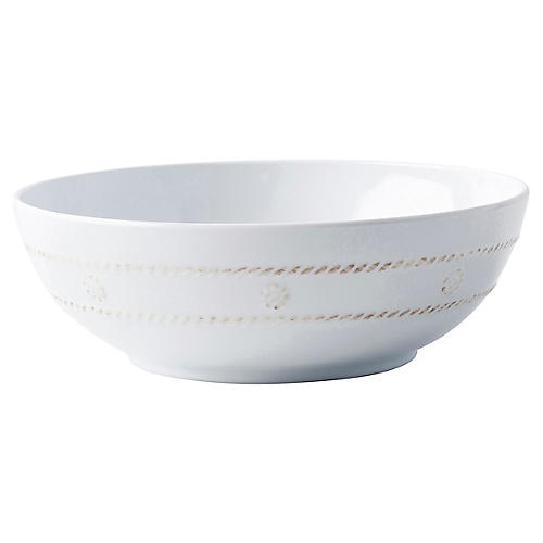 Berry & Thread Melamine Coupe Bowl, White
