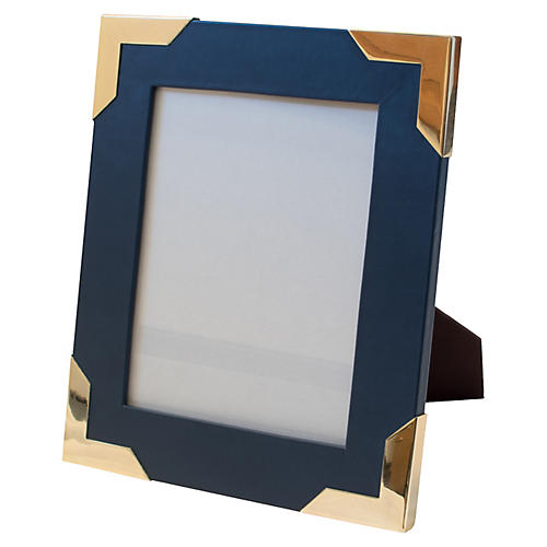 Derby Frame, Navy/Brass