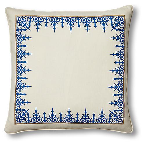 Casablanca Anfa 22x22 Pillow, Ivory Linen