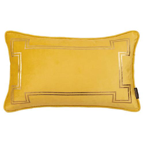 Aria 14x22 Lumbar Pillow, Mustard Velvet