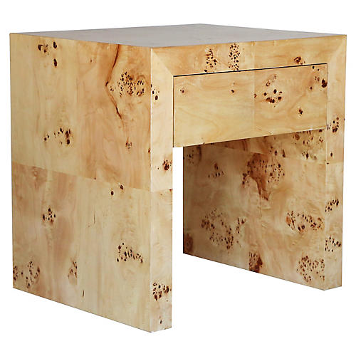 Chloé Side Table, Mappa Burl