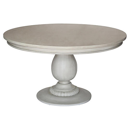 Charlotte Dining Table, Aged French Gray