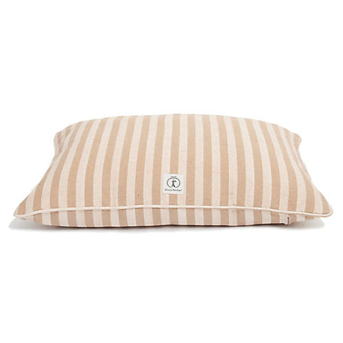 Vintage-Stripe Medium Dog Bed, Tan
