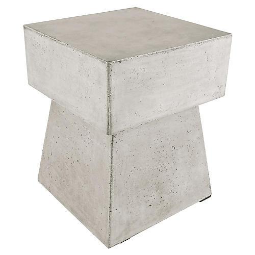 Mushroom Concrete Stool, Gray