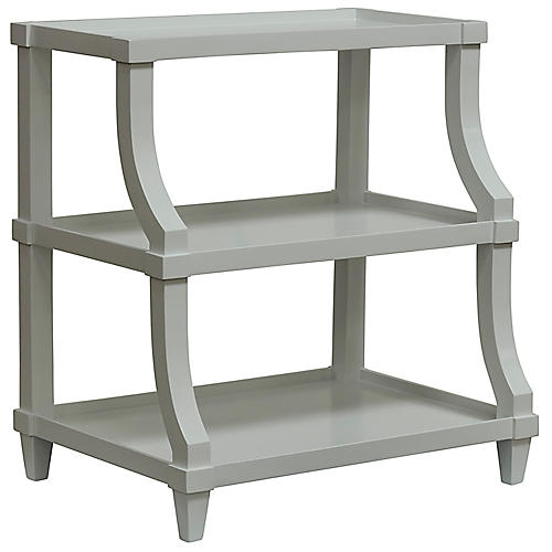 Carlsbad Curved Side Table, Gray