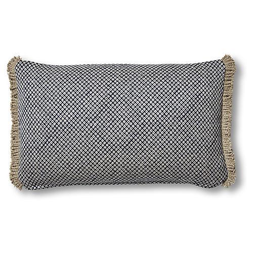 Mila 12x20 Lumbar Pillow, Indigo