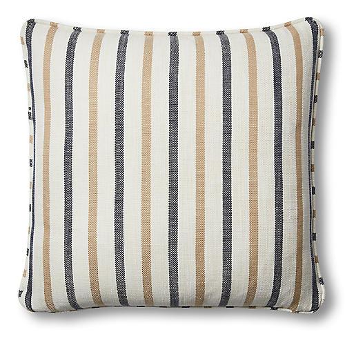 Newton 20x20 Pillow, Cream/Navy