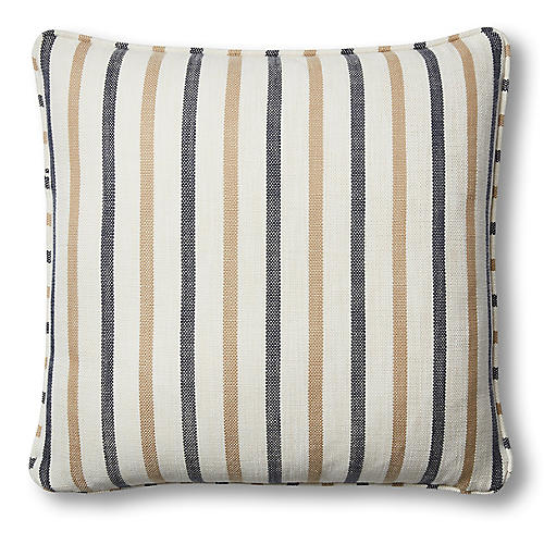 Newton 20x20 Pillow, Cream/Navy