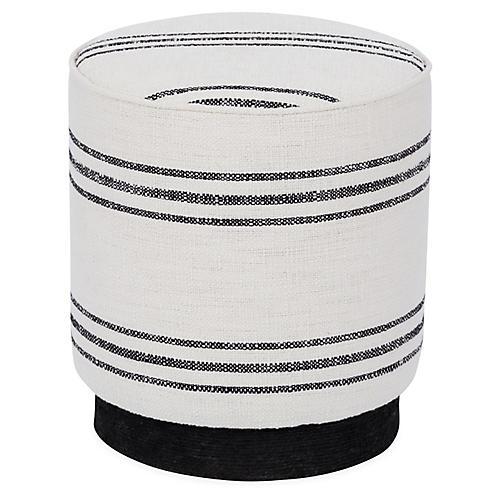 Pepper Stool, Black/White Stripe