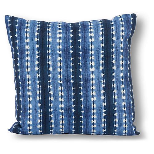 Block 20x20 Outdoor Pillow, Indigo