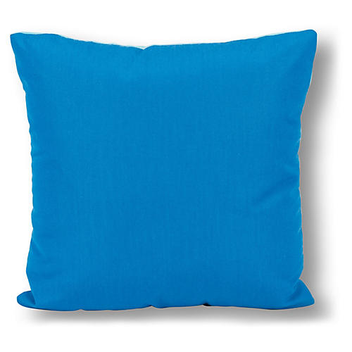 Two-Tone 20x20 Outdoor Pillow, Lagoon/Aqua