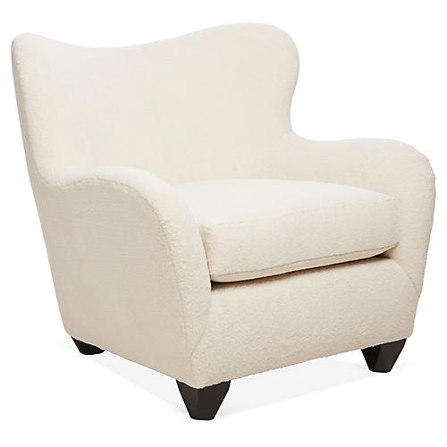 Zola Wingback Chair, Cream