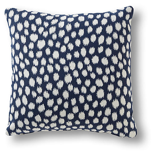 Lille 19x19 Pillow, Navy Dots