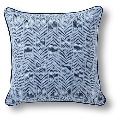 Borton 19x19 Pillow, Sapphire