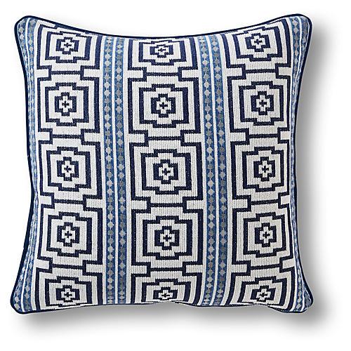 Granger 22x22 Pillow, Indigo