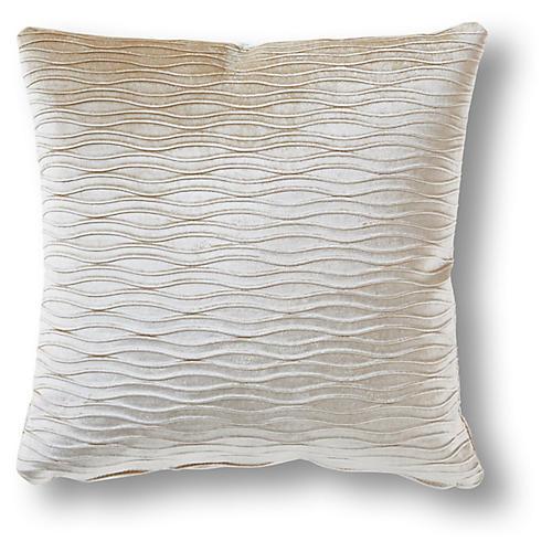 Tarnow 19x19 Pillow, Pearl Velvet