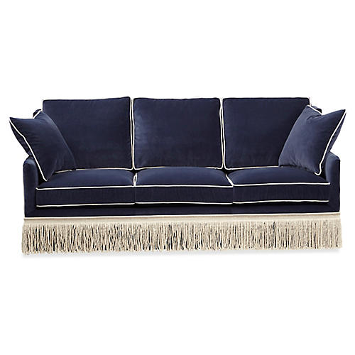 Portsmouth Sofa, Navy Velvet