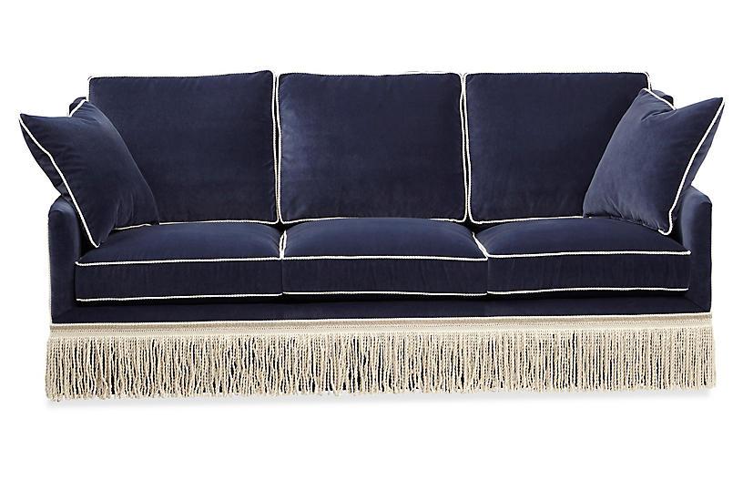 Portsmouth Sofa, Navy Velvet