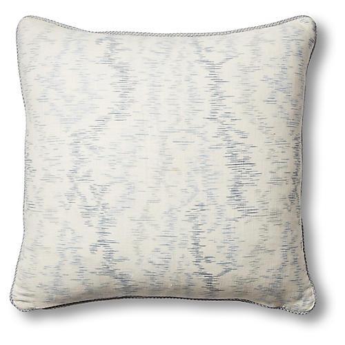 Maris 19x19 Pillow, Ivory/Chambray