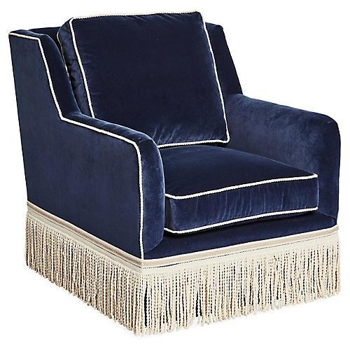 Portsmouth Chair, Navy Velvet