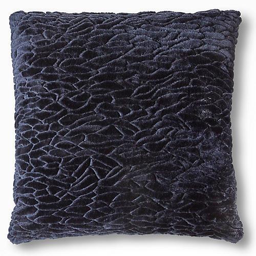 Clara 19x19 Pillow, Midnight Navy
