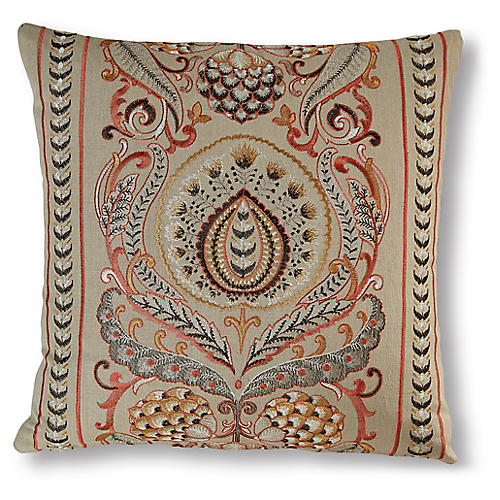 Leighton 19x19 Pillow, Blood Orange/Multi