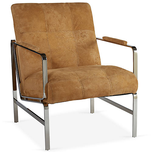 Martin Accent Chair, Camel Hair-On Hide