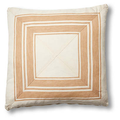 Brentwood 19x19 Mitered Pillow, Natural