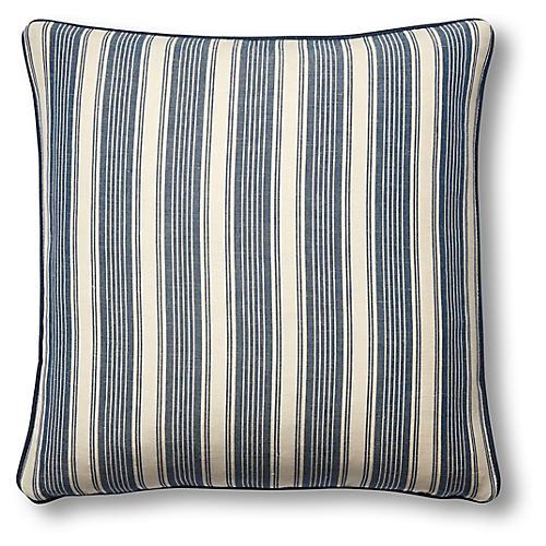 Ojai 19x19 Pillow, Indigo/Khaki