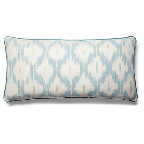 Santa Monica 14x28 Lumbar Pillow, China Blue