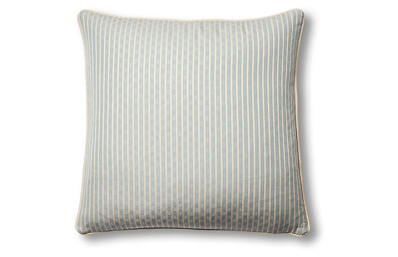 Beverly 19x19 Pillow, China Blue
