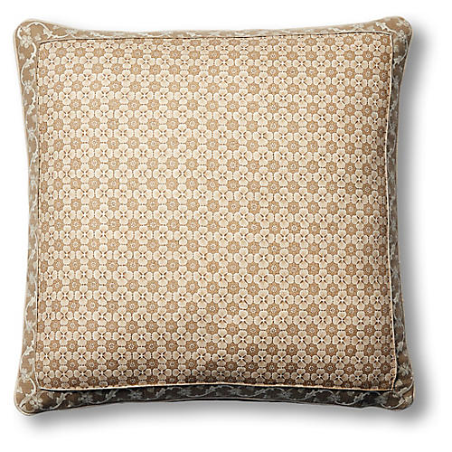 Palisades 19x19 Pillow, Natural Paisley Linen