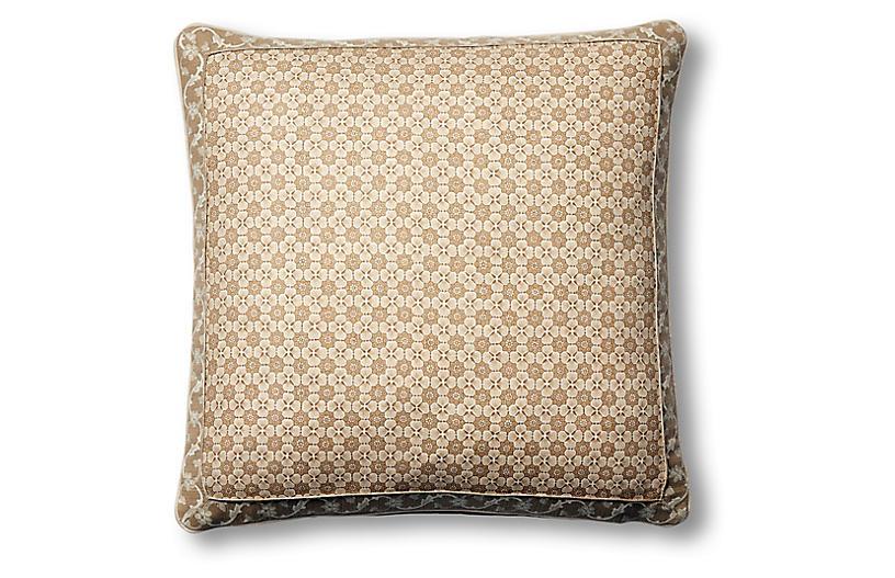 Palisades 19x19 Pillow, Natural Paisley Linen