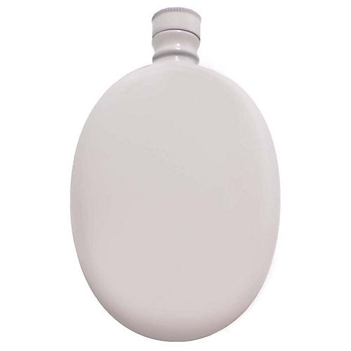 Smith Oval Flask, White