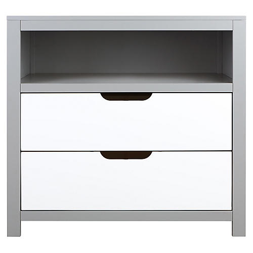 Owen Kids' Dresser, Moon Gray/White