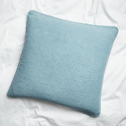 Huntington Euro Sham, Dusty Blue