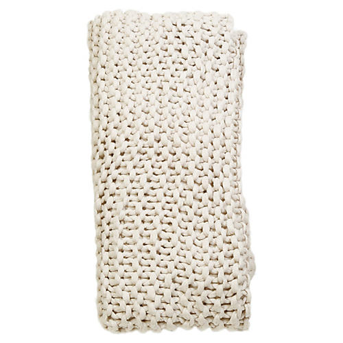Finn Acrylic Throw, Antiqued White