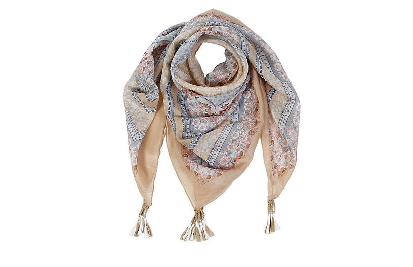 Margaux Silk Scarf, Blush
