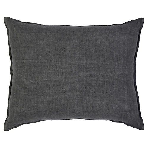 Montauk 28x36 Pillow, Charcoal Linen