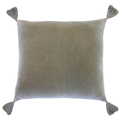 Bianca 20x20 Pillow, Sage Velvet