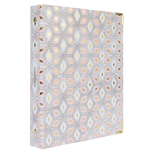 Mini Three-Ring Binder, Pink/Multi