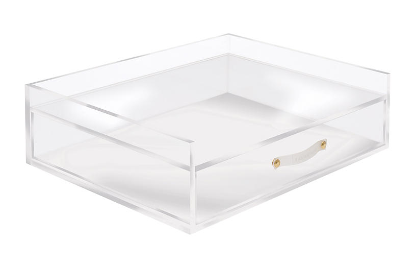 Acrylic Desk Inbox & Drawer