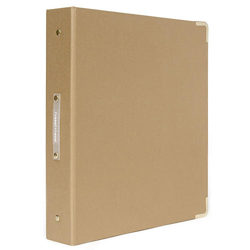 Signature Three-Ring Binder, Gold